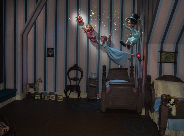 PETER PAN'S FLIGHT PIXIE DUSTED WITH 'NEW MAGIC' (ANAHEIM, Calif.) – Featuring a variety of special effects and a reimagined nursery scene, the classic attraction continues to delight guests on a flight to Never Land. (Paul Hiffmeyer/Disneyland Resort) -