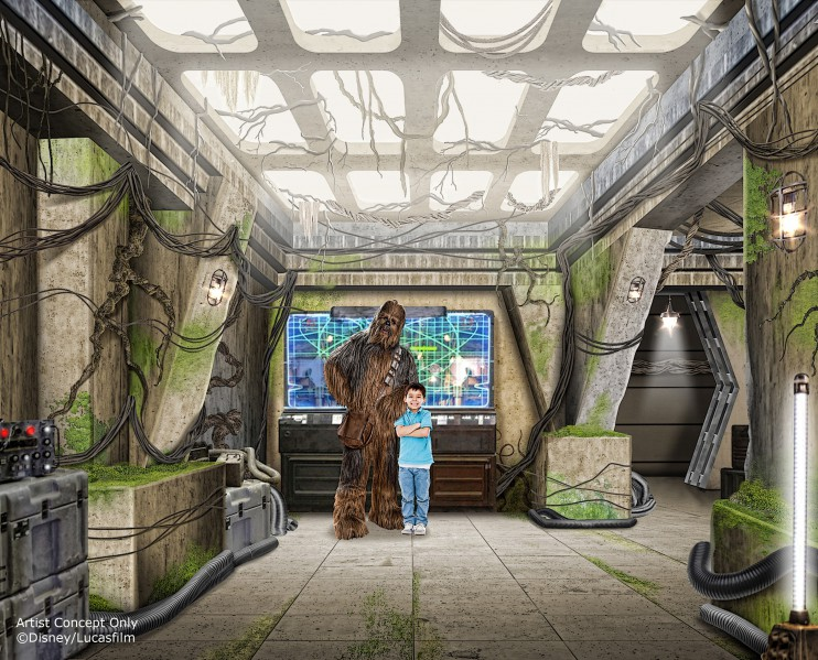 STAR WARS LAUNCH BAY – Opening Nov. 16, 2015, Star Wars Launch Bay at Disneyland Park will take guests into the worlds of the Star Wars galaxy with special exhibits, opportunities to encounter Star Wars characters, special merchandise and more. (Disney Parks)