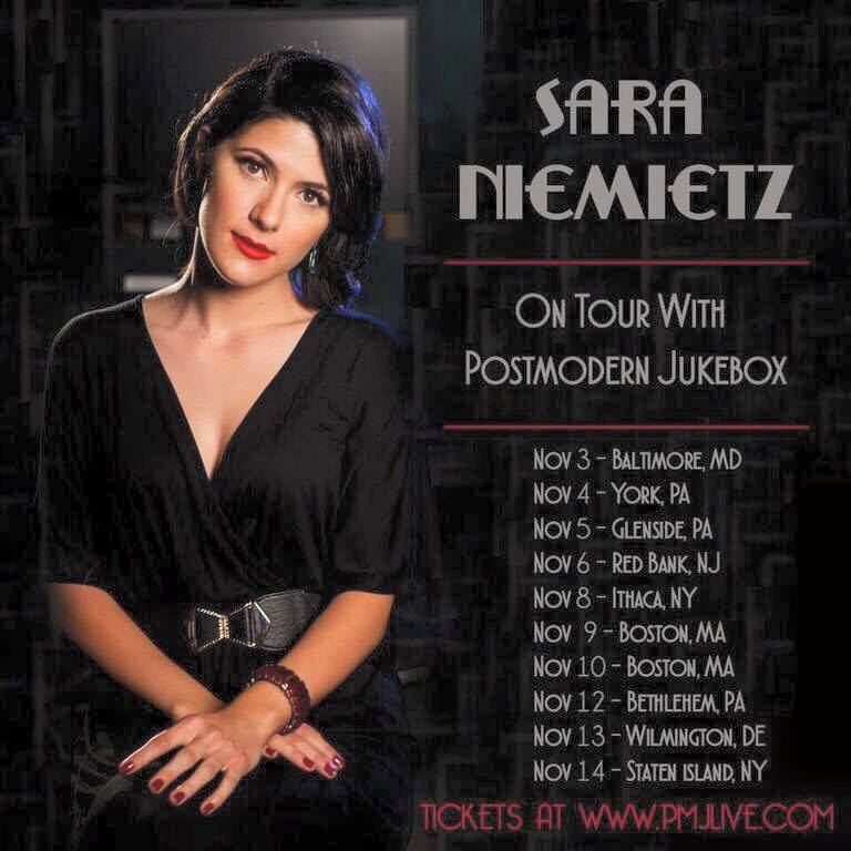 Sara Niemietz is now touring with Juke Box