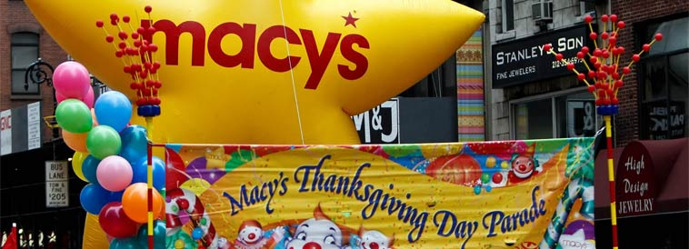 "America's favorite holiday tradition will once again kick off the season of joy as the 89th Annual Macy's Thanksgiving Day Parade returns to march down the streets of New York on Thursday, Nov. 26 (9 a.m.-noon in all time zones.) Matt Lauer, Savannah Guthrie and Al Roker of NBC's ""Today"" will anchor the broadcast."