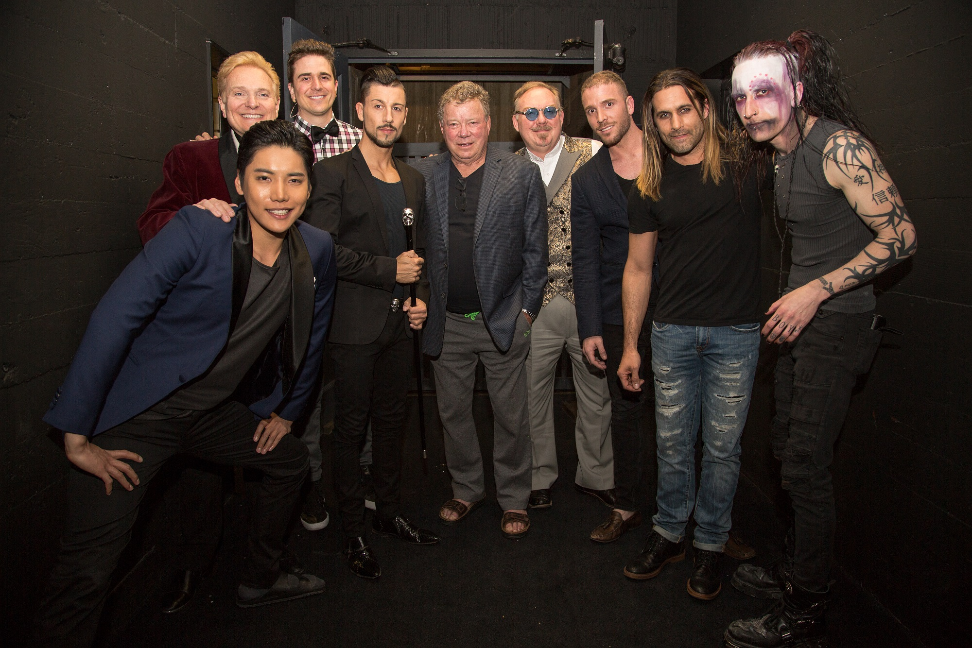 "William Shatner, Jeff Hobson, Andrew Basso, Kevin James, Yu Ho-Jin, Ben Blaque, James More, Dan Sperry. Adam Trent at the premiere of ""The Illusionists."" Photos by Chelsea Lauren"