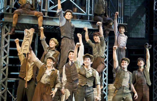 Newsies now showing at the Pantages Theatre in Hollywood during the Labor Day weekend. Photo by Deen van Meer
