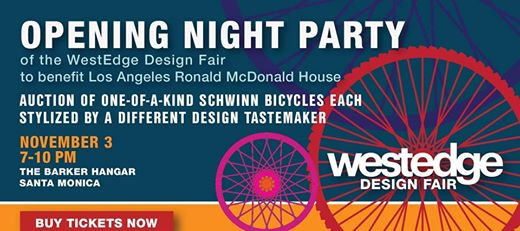 WestEdge Design Fair returns to Santa Monica's Barker Hangar venue November 3-6, presenting a not-to-be-missed event for industry professionals and design aficionados alike.