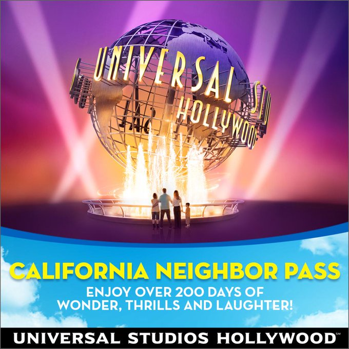 Universal Studios Hollywood's All-New California Neighbor Pass Moves into Town Inviting Residents from Across the Golden State to Spend Over 200 Select Days and Weekends at The Entertainment Capital of L.A. for the Neighborly Price of $119