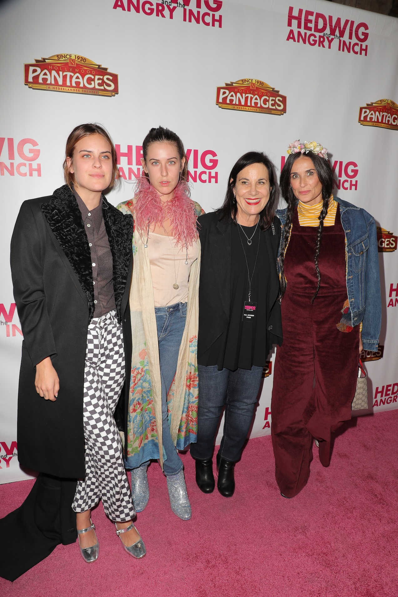 Demi Moore and friends and talent at the Pantages Hollywood opening night of Hedwig and the Angry Inch. Photo by Chelsea Lauren