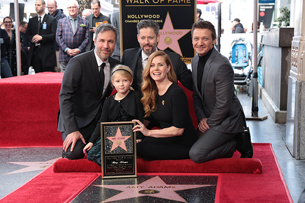 Amy Adams receives her star on the Hollywood Walk of Fame. Getty Images - Courtesy of Paramount