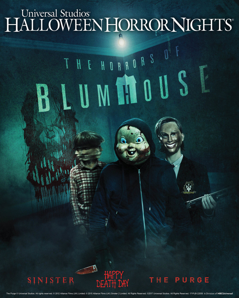 "Beginning September 15, ""The Horrors of Blumhouse"" Takes Possession of Universal Studios' ""Halloween Horror Nights"" in Two New Mazes Inspired by Acclaimed Contemporary Horror Producer Jason Blum's Blockbuster Movies."