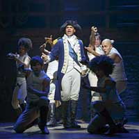 With book, music and lyrics by Lin-Manuel Miranda, direction by Thomas Kail, choreography by Andy Blankenbuehler and musical supervision and orchestrations by Alex Lacamoire, HAMILTON is based on Ron Chernow's biography of Founding Father Alexander Hamilton.  The musical won eleven 2016 Tony Awards ®including Best Musical, Score, Book of a Musical, Direction of a Musical, Choreography and Orchestrations.  Mr. Miranda received the Pulitzer Prize for Drama for HAMILTON.   HAMILTON is the story of America's Founding Father Alexander Hamilton, an immigrant from the West Indies who became George Washington's right-hand man during the Revolutionary War and was the new nation's first Treasury Secretary.  Featuring a score that blends hip-hop, jazz, blues, rap, R&B, and Broadway, HAMILTON is the story of America then, as told by America now.